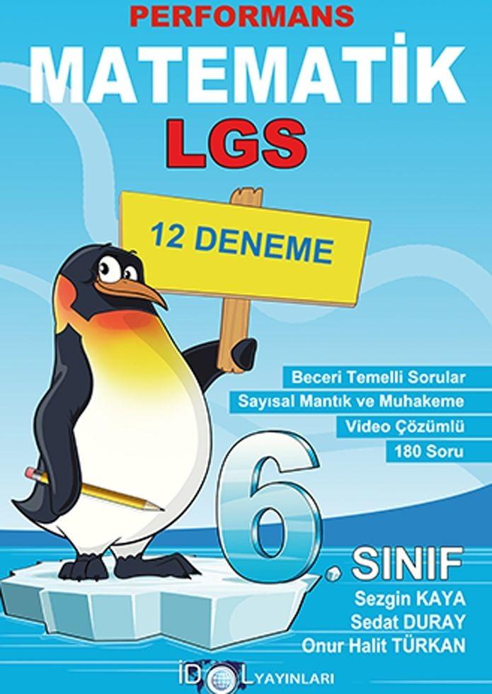İdol Yayınları 6. Sınıf Matematik Performans 12 Deneme