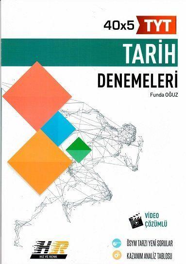 Hız ve Renk Yayınları TYT Tarih 40 x 5 Denemeleri Hız ve Renk