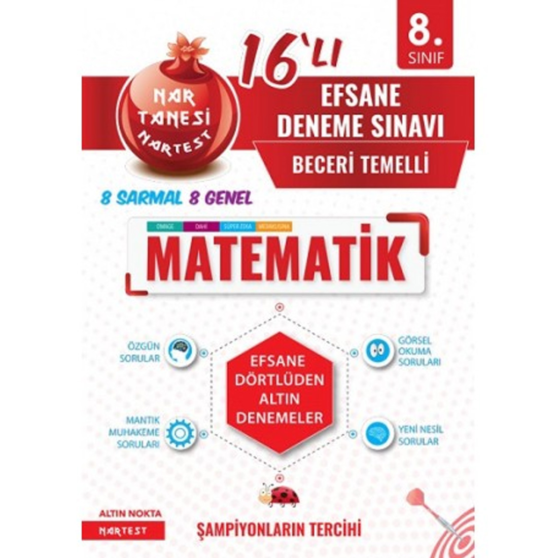 Nartest Yayınları 8. Sınıf Matematik 16 lı Efsane Deneme Sınavı Nartest